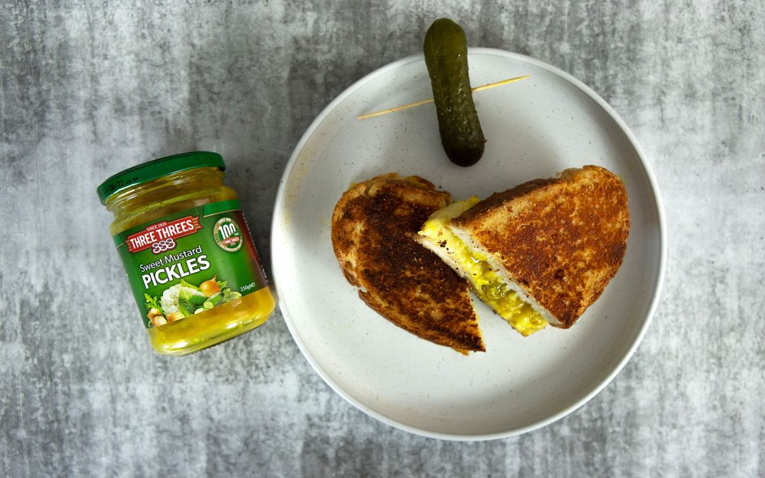 Ultimate mustard pickle and gruyere toastie
